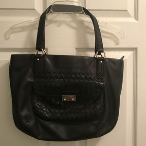 Cole Haan Large Leather Black tote.
